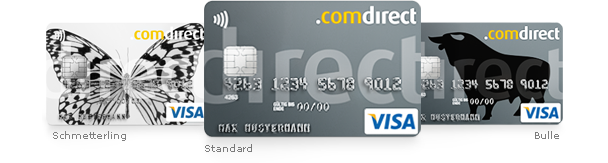 Comdirect Visa Karte Card
