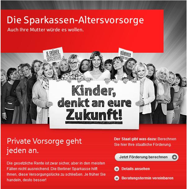 Sparkasse Werbung