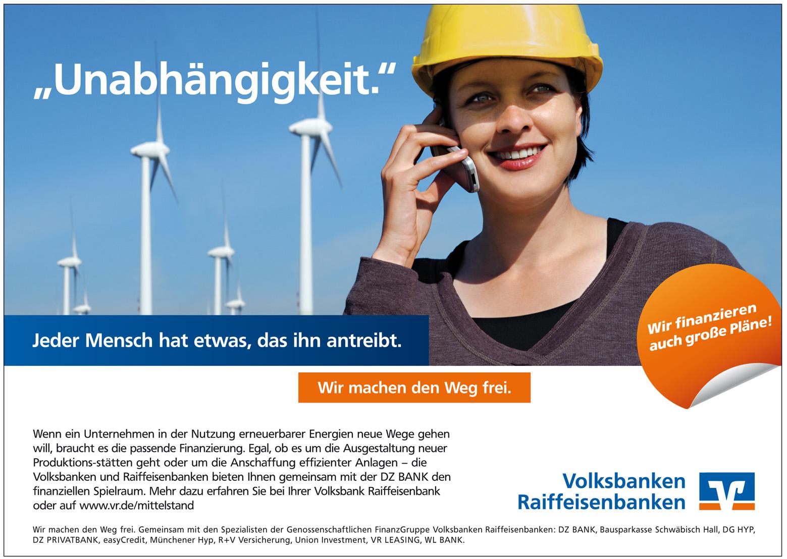 Volksbank Raiffeisenbank Werbung