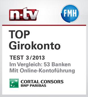 Cortal Consots Girokonto Testsieger bei ntv