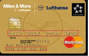 mastercard kartennummer und sicherheitscode