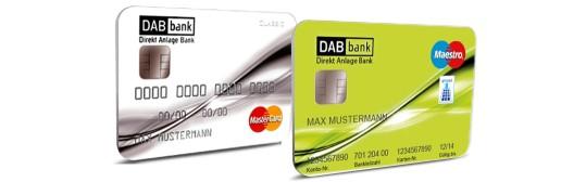 DAB Bank Geschäftskonto Kreditkarte