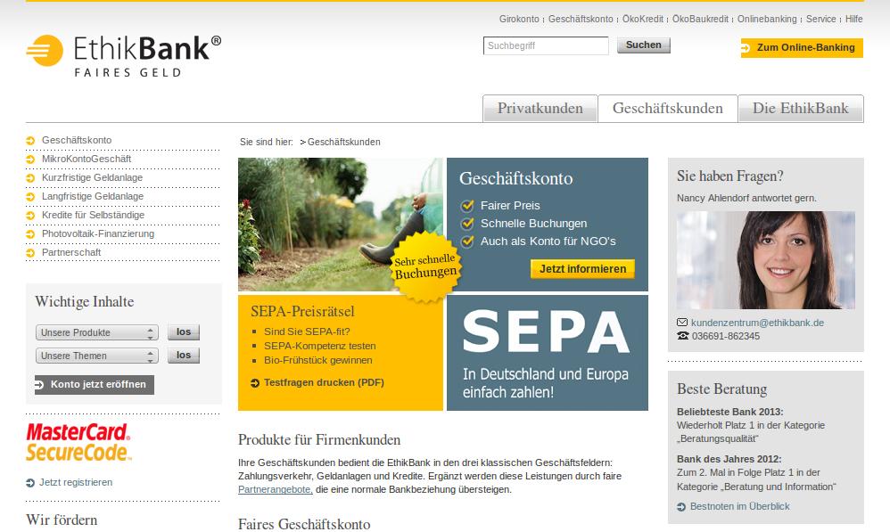 Ethikbank Online Banking