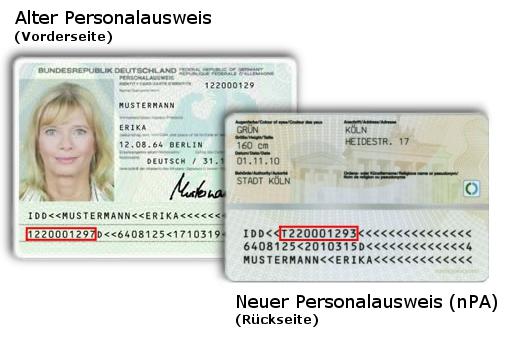 Ausweisnumer