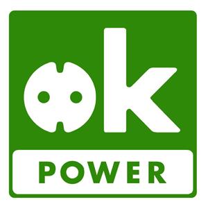 OK Power Logo Label