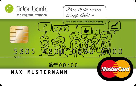 Fidor Bank Prepaid MasterCard Kreditkarte