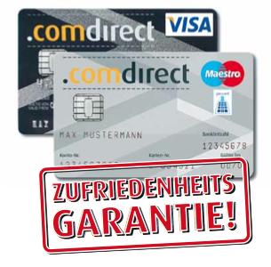 Comdirect EC Karte, Visa, Girocard