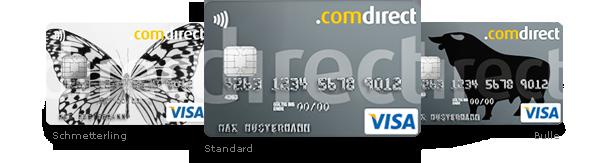 Comdirect Visa Karte Card