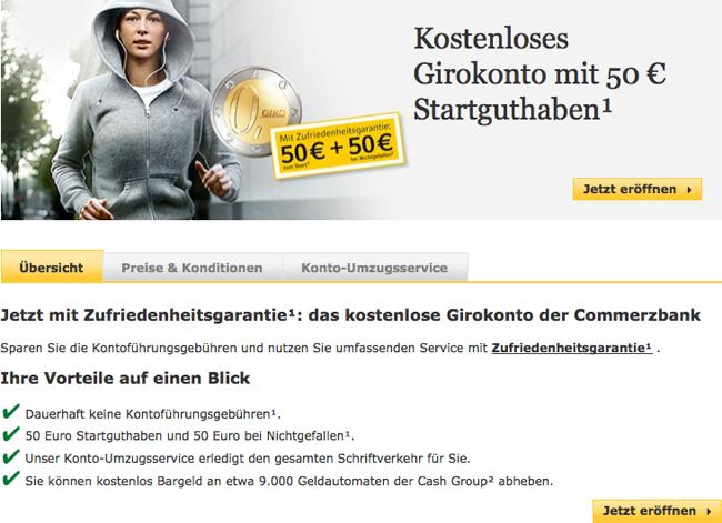 Commerzbank Girokonto eröffnen