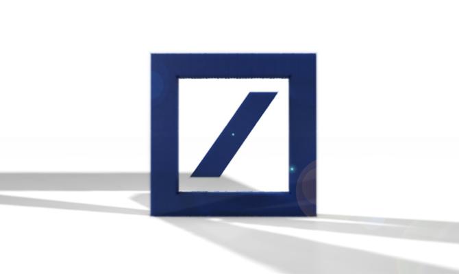 Deutsche Bank Logo 3D