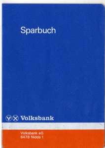 Sparbuch Volksbank