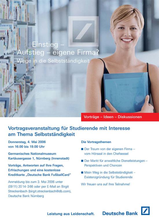 Deutsche Bank Werbung