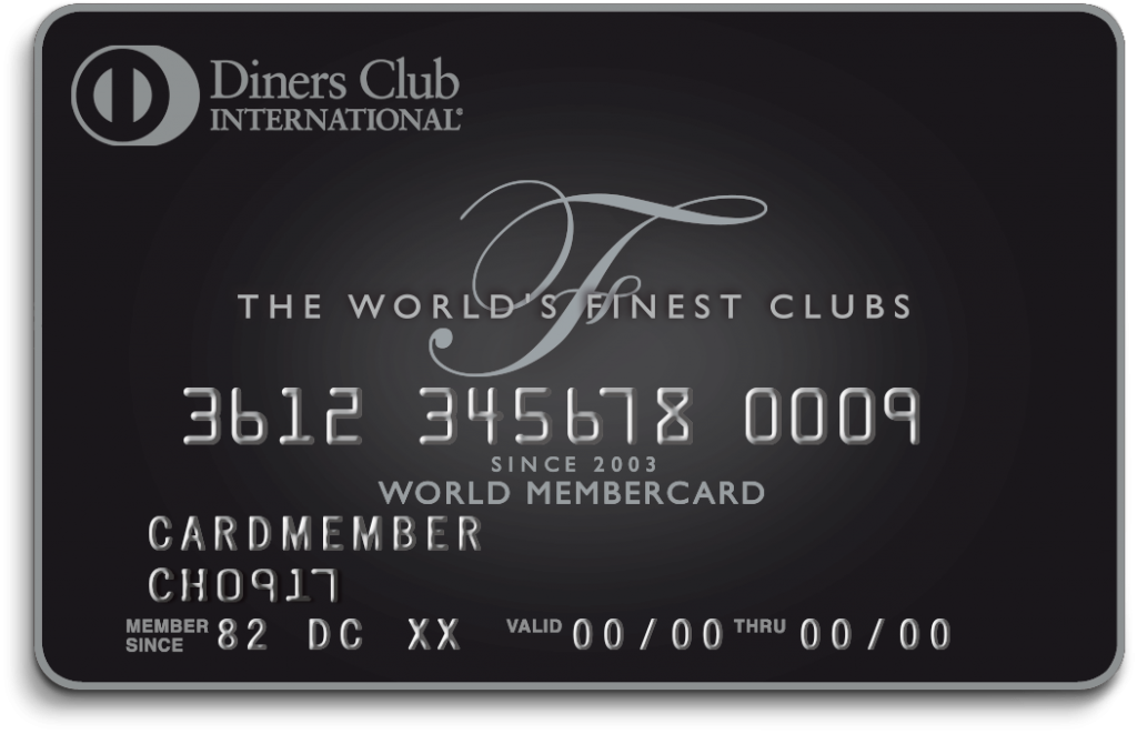 Diners Club Karte schwarz black