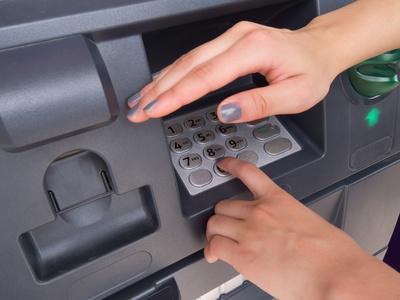 Pin Eingabefeld am Bankautomat