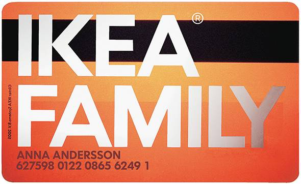 IKEA Family Bezahlkarte Card
